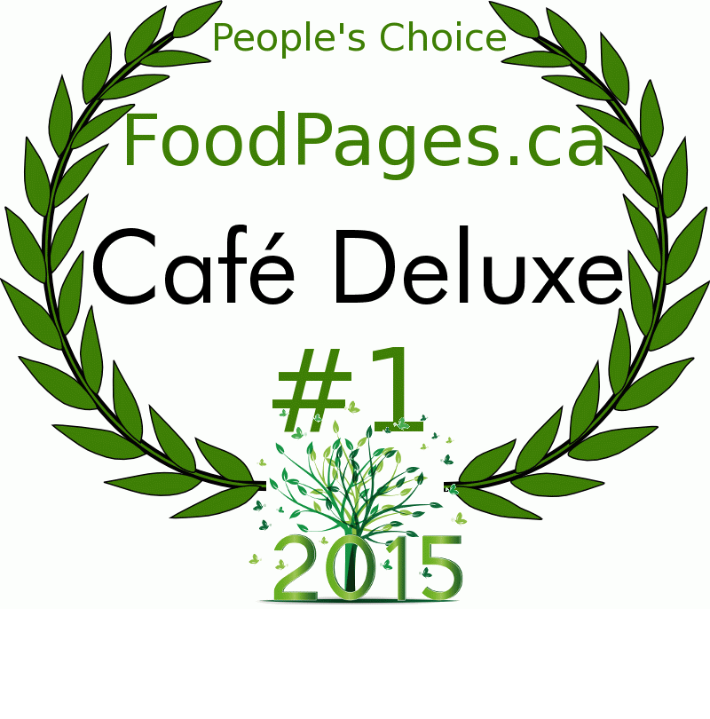 Café Deluxe FoodPages.ca 2015 Award Winner